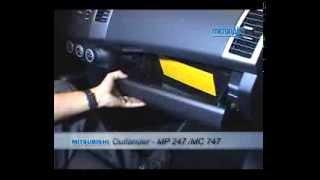 Mitsubishi como trocar o filtro de ar condicionado cabine