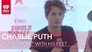"Charlie Puth Plays ""Work From Home"" With His Feet!"