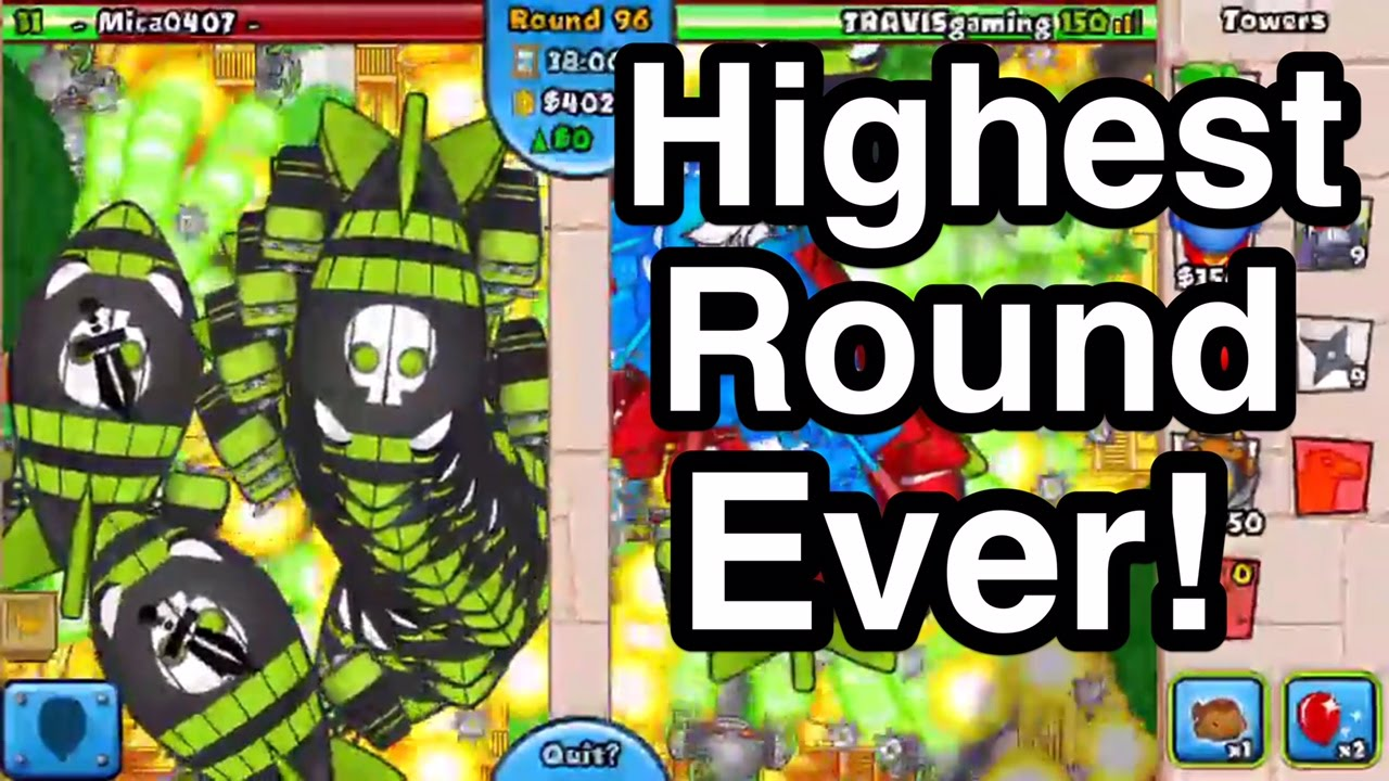 Bloons TD Battles || Highest Round Ever! #LATEGAME || Club Bananza