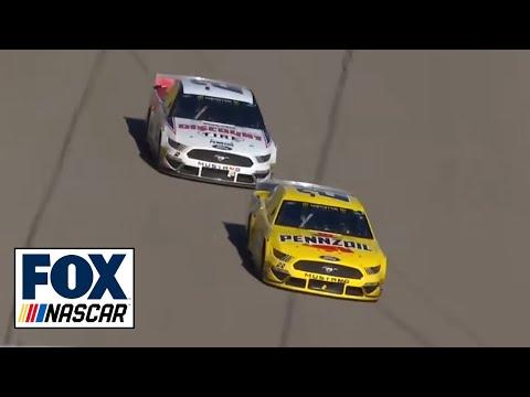 Joey Logano holds off teammate Brad Keselowski to win Pennzoil 400 in Las Vegas | NASCAR on FOX