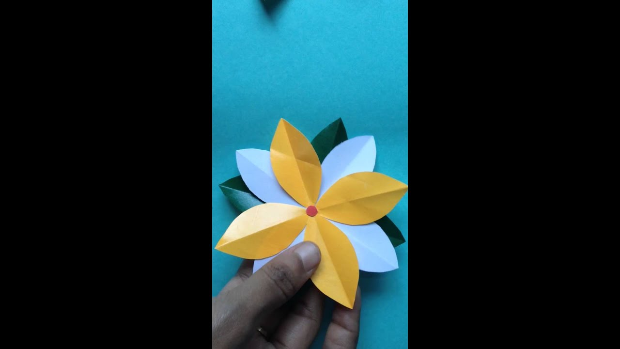 How To Make A Tricolour Saffron White And Green Flower For Kindergarten Children