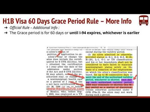 H1B Grace Period 60 Days USCIS Rule – Job Loss, You Quit, H4