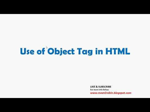Use Of OBJECT TAG In HTML.