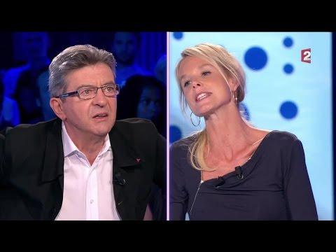 Vif échange entre Jean-Luc Mélenchon et Vanessa Burggraf - On n'est pas couché 10 septembre 2016