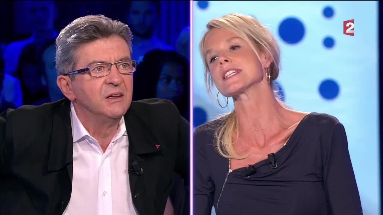 Vif échange entre Jean-Luc Mélenchon et Vanessa Burggraf - On n'est pas couché 10 septembre 201
