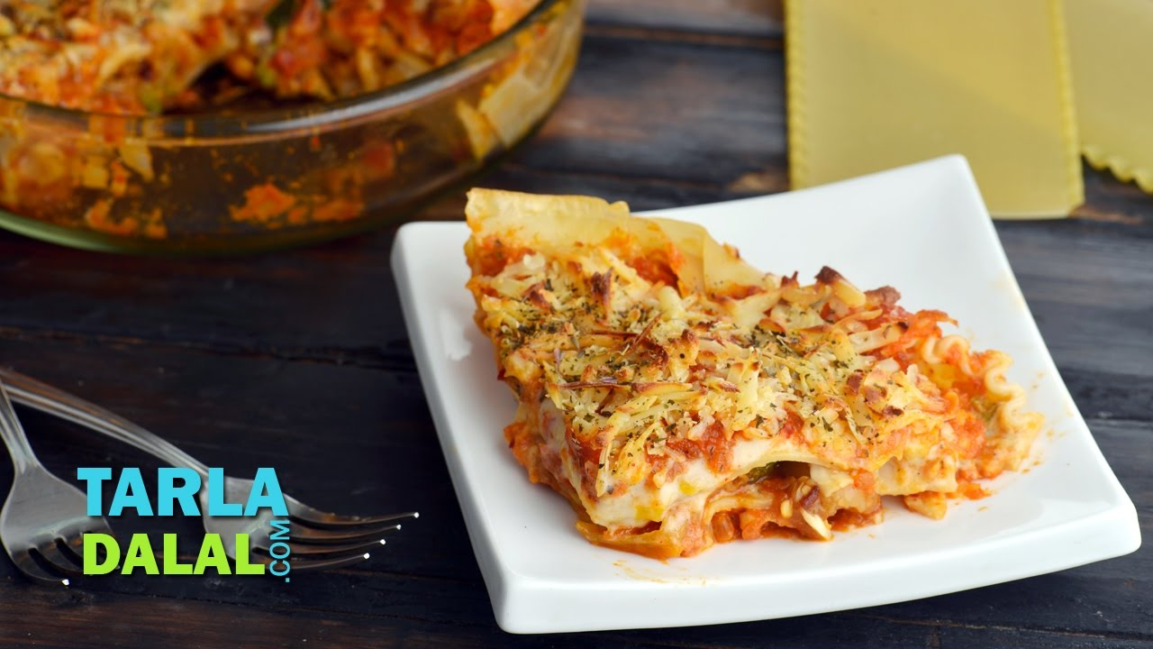 Vegetable lasagne by tarla dalal youtube forumfinder Image collections