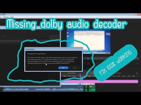 Download Missing Dolby Audio Decoder Premiere Pro Cc 2018