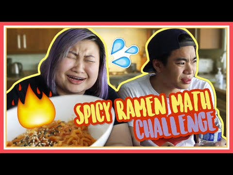 Spicy Ramen Challenge + Math Test ft Nathan - MadeWithSoyy