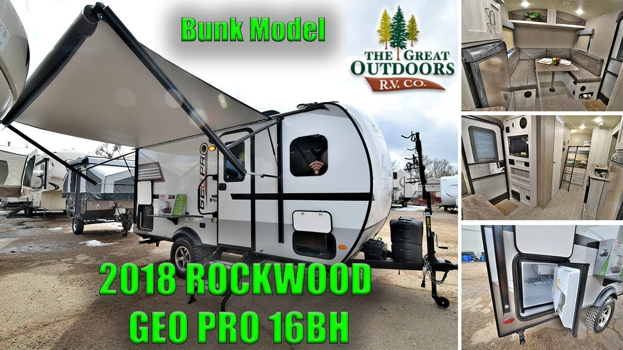 Geo Pro Camper >> New 2018 Bunk Model ROCKWOOD GEO PRO 16BH Lightweight Travel Trailer RV Camper Colorado - YouTube