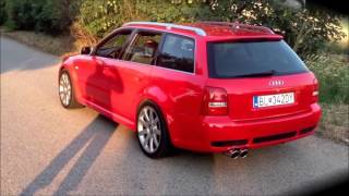 AUDI RS4 B5 BEST OF EXHAUST SOUND COMPILATION