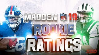Madden 19 Rookie QB and RB Ratings!