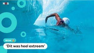Lewis zwemt (als eerste persoon ooit) onder smeltende ijskap