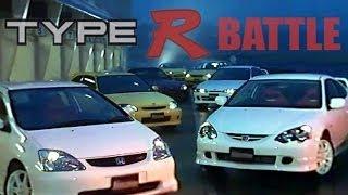 [ENG CC] Type R Battle - DC2, DC5, EP3, EK9, S2000, Silvia S15, Audi S3 Tsukuba 2002