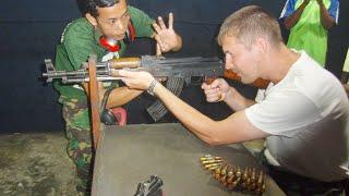 AK-47 Kalashnikov shooting in Phnom Penh Cambodia АК-47 Калашников тир в Пномпене Камбоджа