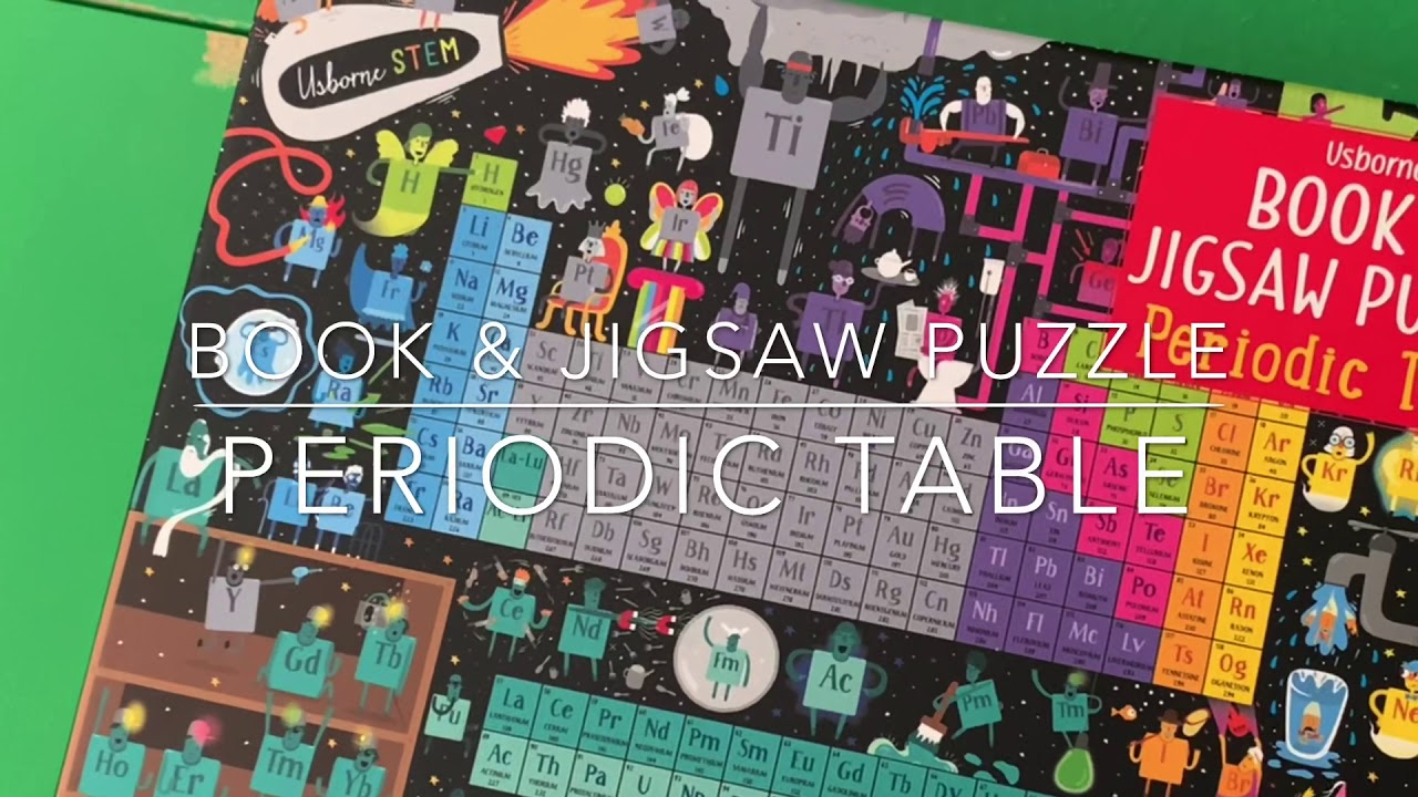 Book & Jigsaw Puzzle Periodic Table - YouTube