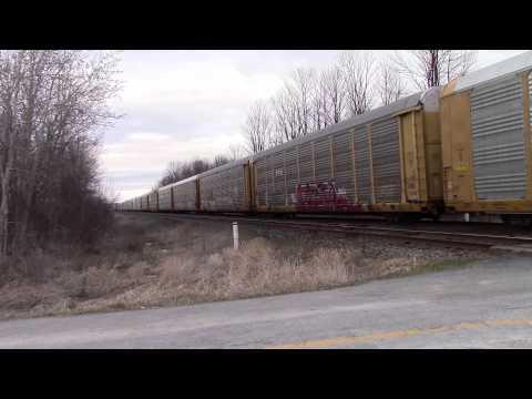 ULTRA RARE!!!!!! CN Mixed Train W/ 4 LTEX GP35s Near Newtonville ON 23APR15 SD70M-2 8005 Leading