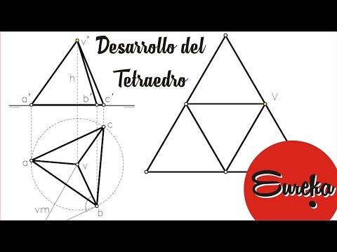 Tutorial de dibujo │ Desarrollo de un tetraedro