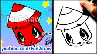 Cute Fireworks - How to Draw Holiday Cartoons (BONUS VIDEO)