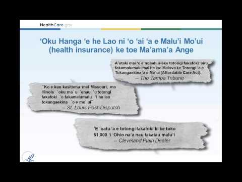 Health Care Law and You (Tongan)