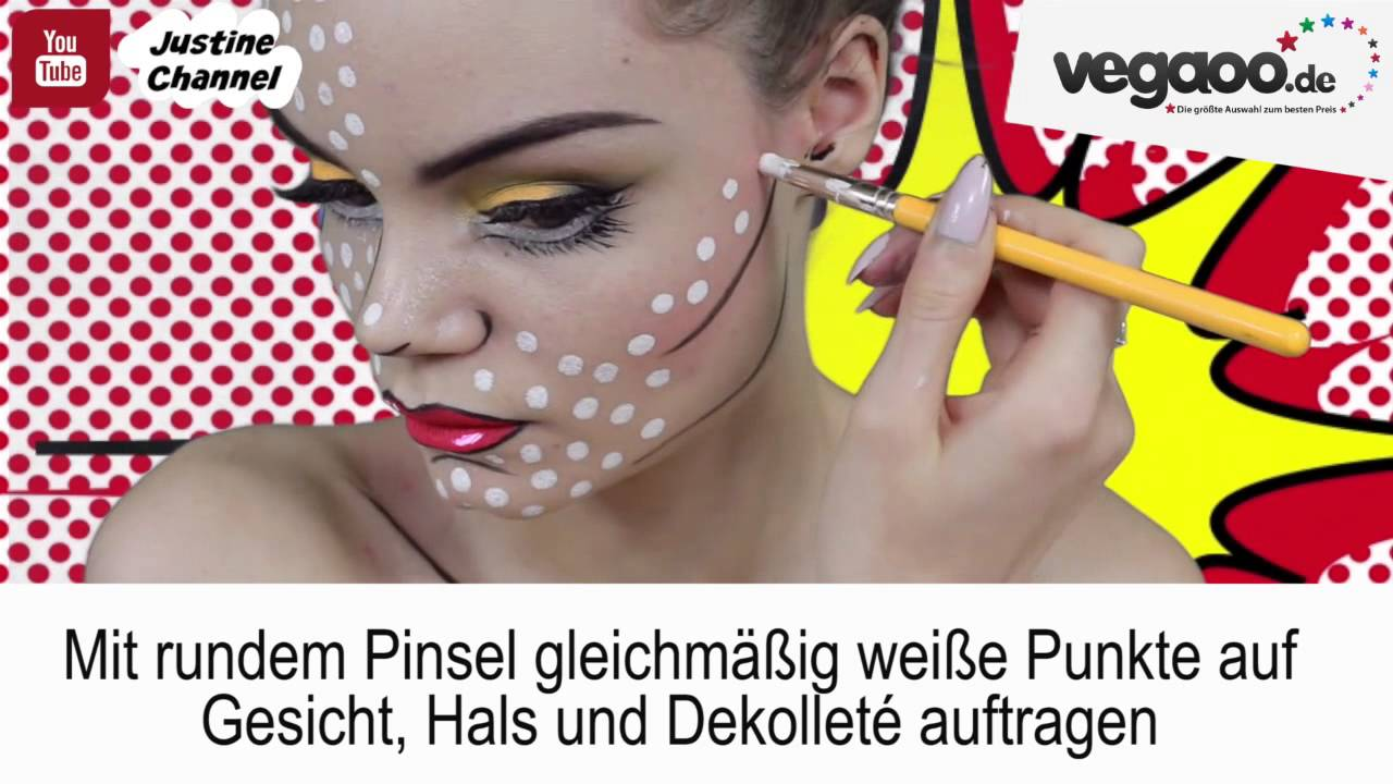 Pop Art Make Up Anleitung Youtube