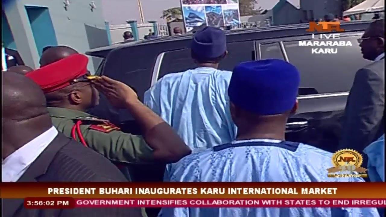 President Muhammadu Buhari in Nasarawa State: Commissioning of Karu International Market