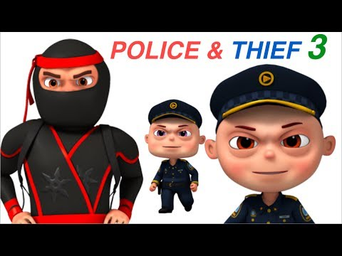 Zool Babies Police And Thief   Part 3   Cartoon Animation For Children   Videogyan Kids Shows