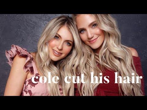 Cole cut his hair!! Savannah + I get ours done