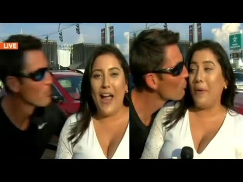 Manny's - Jerk Facing Charges After Kissing Reporter During Live Report