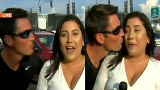 Gambar cover Did Stranger Try to Kiss This Reporter on Live TV?