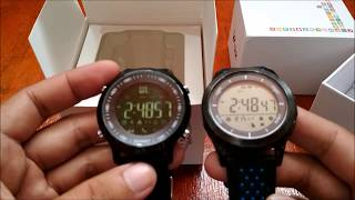 Makibes EX18 smartwatch vs No.1 F3 Smartwatch