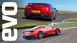 Nissan GT-R v Ferrari 458 Speciale | evo TRACK BATTLE