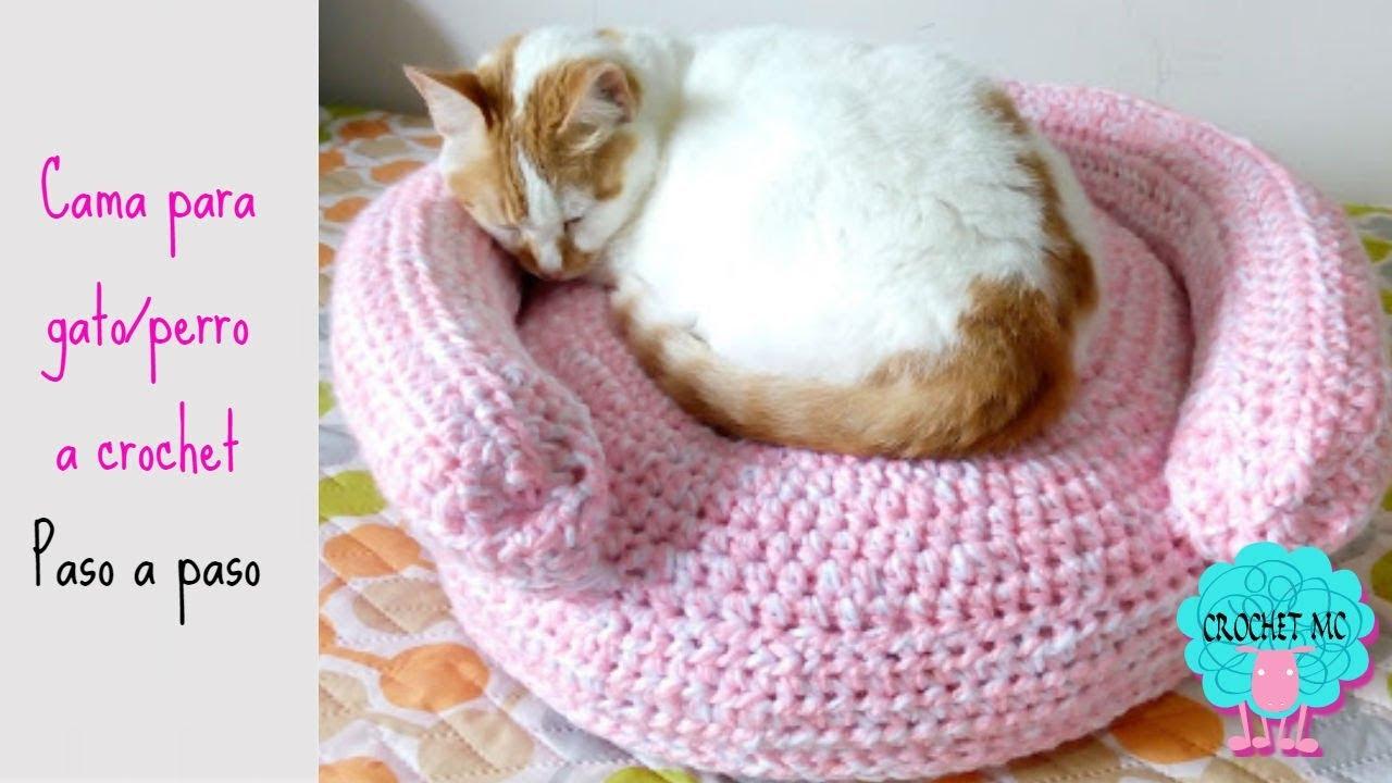 Tutorial cama para gato/perro a crochet - YouTube