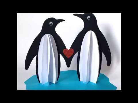 Пингвины Поделки из бумаги для детей
