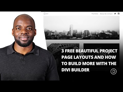 3 Free Beautiful Project Page Layouts (& How to Build More with the Divi Builder)