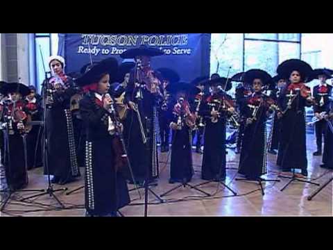 TUSD1 - Mariachi Las Aguilitas de Davis Performs at the Tucson Police Department 2013