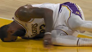 LeBron James Gets Injured & Left The Game - Hawks vs Lakers | March 20, 2021