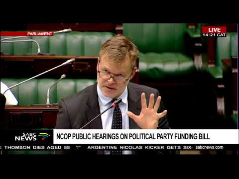 NCOP conducts public hearings into the Political Party Funding Bill