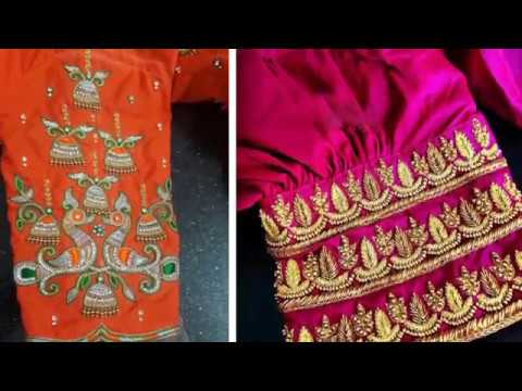 cb35129144b92 Beautiful Embroidery Work Blouse Sleeve Designs For Silk Sarees Wedding