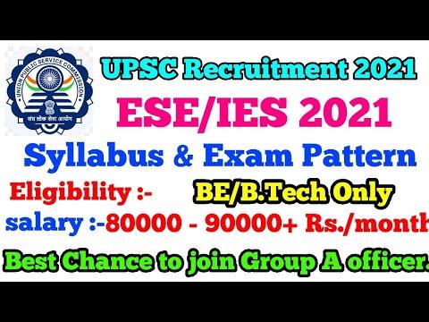 ESE/IES 2020 Exam Pattern & Syllabus