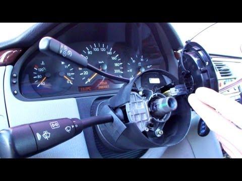 Замена переключателя поворотов Mercedes W210 How To Replace The Switch On The Steering Wheel