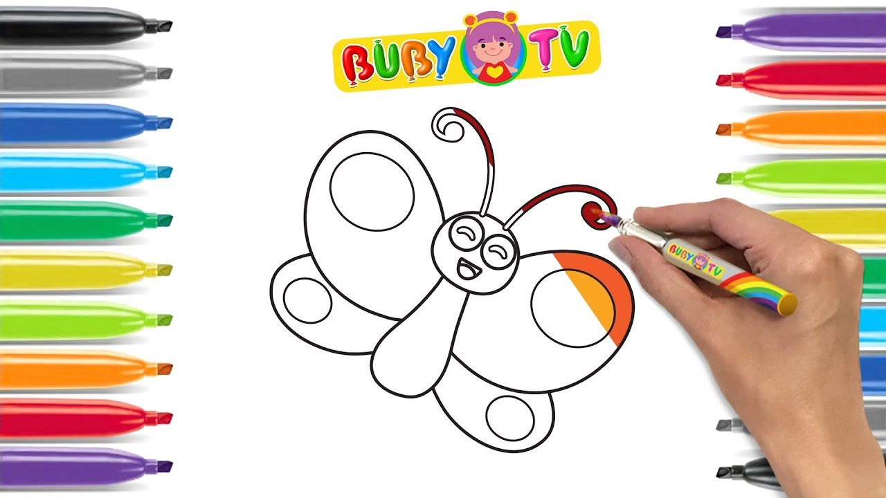 Impara a disegnare una farfalla tutorial di disegni for Conigli facili da disegnare