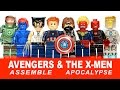 Avengers Assemble & The X-Men LEGO KnockOff Minifigures w/ Wolverine Iron Man & Captain America
