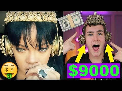 Wearing the $9,000 Rihanna Headphones