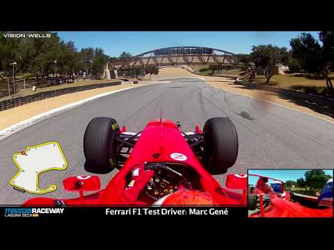 Ferrari Racing Days Laguna Seca - F1 Test Driver: Marc Gene - RECORD SETTING LAP!!