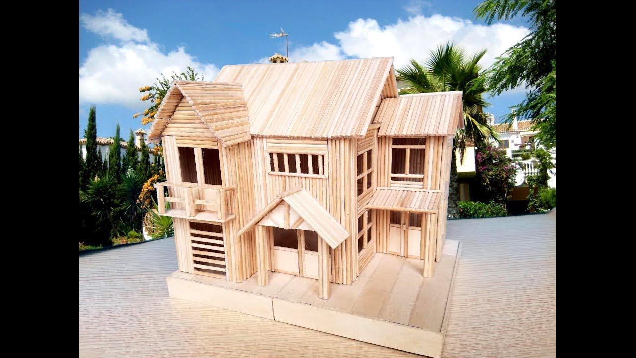 làm nhà bằng tăm tre   biệt thự mơ ước