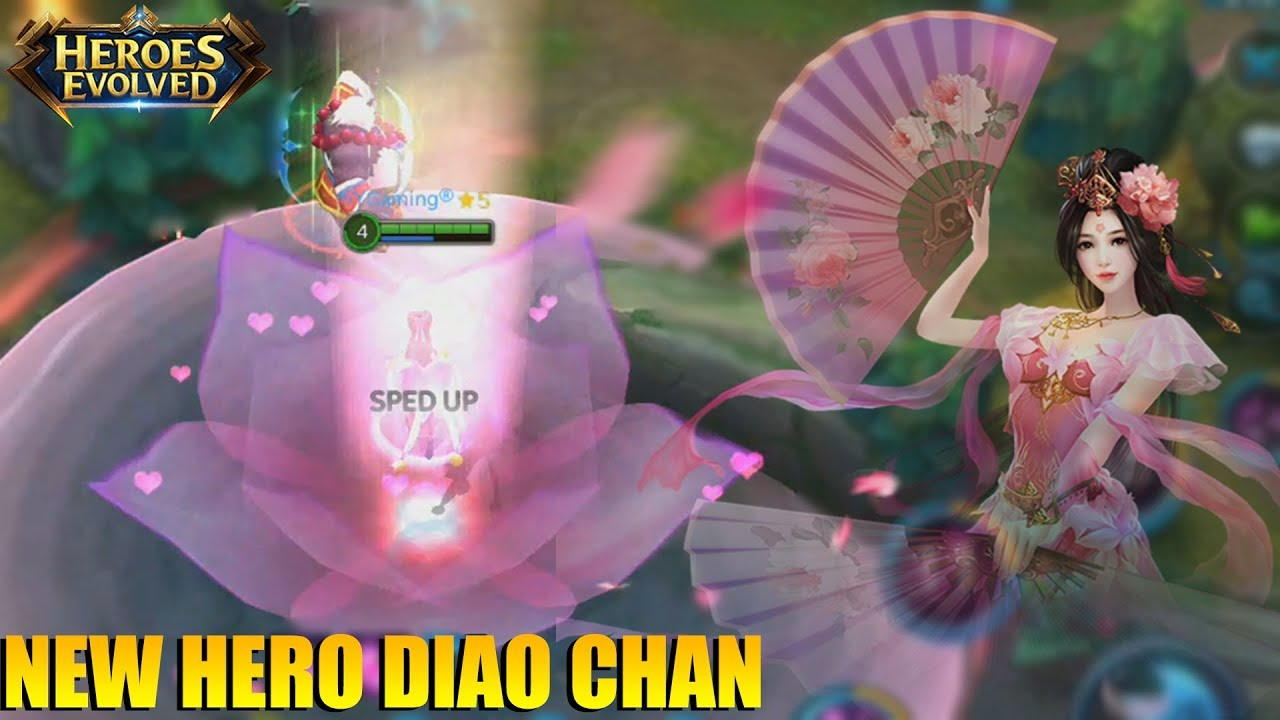 INI JADINYA KALAU HERO SUPPORT DI BERI BUILD FULL PHYSICAL - NEW HERO DIAO CHAN HEROES EVOLVED