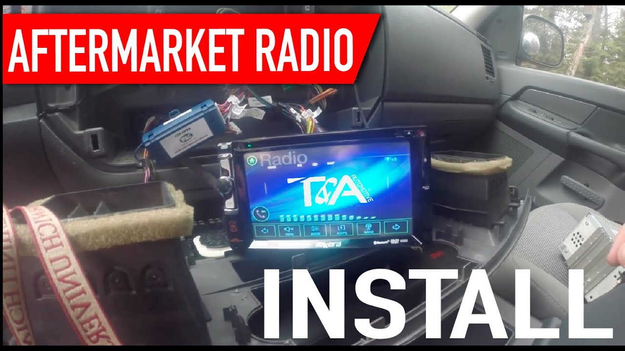 Aftermarket Radio Install In A 2006 Dodge Ram Youtube 2005 Silverado Stereo Harness