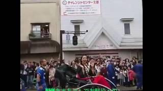 岩手県久慈市の秋祭りにNHKあまちゃんでお馴染みの のん(能年玲奈)が登...