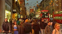 LONDON WALK | Oxford Street at Christmas - Tottenham Court Road to Oxford Circus | England