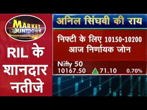 RIL के शानदार नतीजे | IndusInd Bank और Bharat Financial मर्जर | Market Countdown | CNBC Awaaz